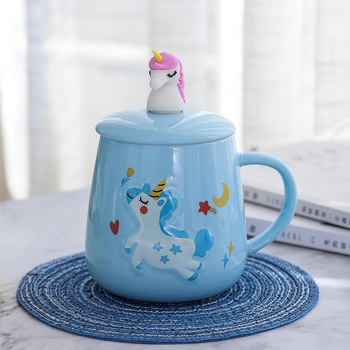 Creative Unicorn Ceramic Coffee Mugs