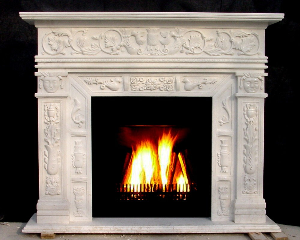 Online buy wholesale marble fireplace mantels from china for Marble for fireplace surround
