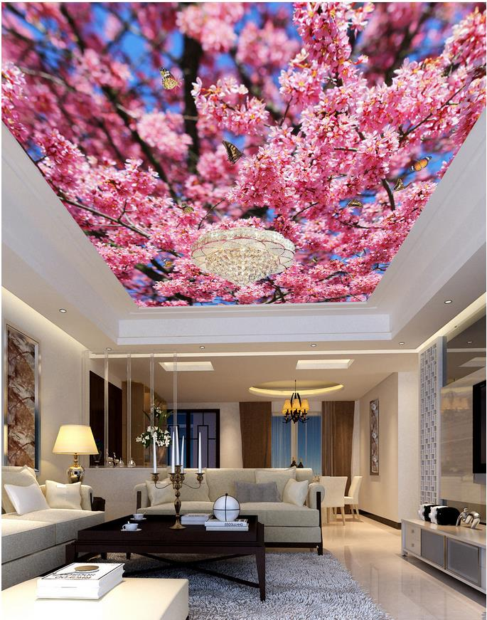 Custom photo wallpaper large 3d stereo romantic ceilings for 3d ceiling paper
