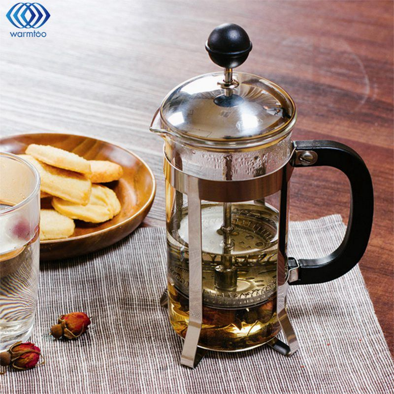 French Coffee Maker Press Pot 350ML Coffee Tea Filter Glass Cafetiere Plunger Water Kettle Jug Home Coffee Tools bodum travel press set coffee maker off white