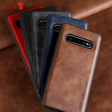 X-Level Leather Case For Samsung Galaxy S10 Plus Original Soft Silicone Edge Back Phone Cover For Samsung S10 S10e S10+ Case(China)