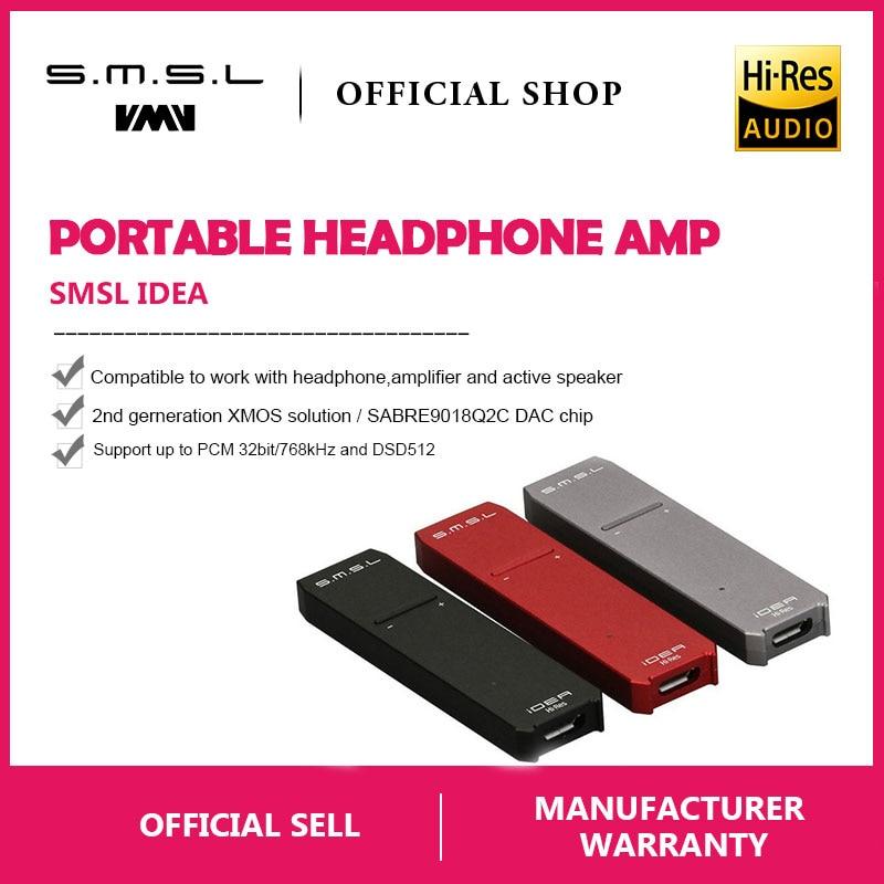 SMSL iDEA Mini Hi-Fi Audio Portatile USB DAC SABRE9018Q2C Portatile USB DSD512 32bit/768 khz DAC e Audio per Cuffie amplificatore