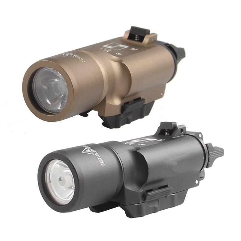 Охотничье ружье страйкбол винтовка тактический фонарь оружие Свет факела высокий выход светодиодный X300 для пистолет Глок с 20 мм rail HT8-0002