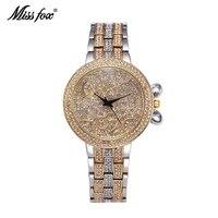 Miss Fox Lucky Clouds Role Watches Women Gold Full Diamond Sobretudo Feminino Rhinestone Missfox Luxury Brand Relojes Mujer 2019