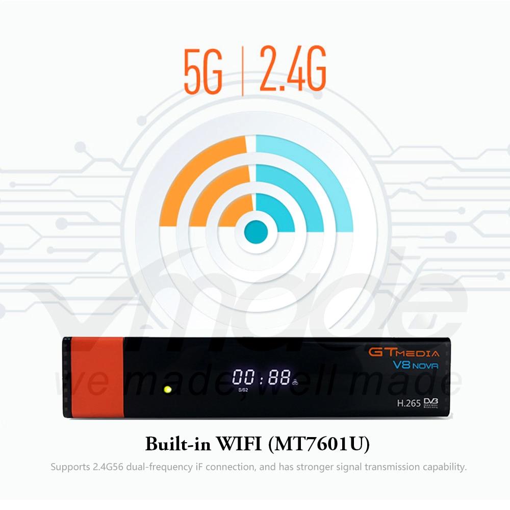Image 4 - Gtmedia V8 NOVA from Freesat V8 Super TV Receiver Receptor Support built in WIFI H.265 DVB S2 cline cccam Box Spain tv decoder-in Satellite TV Receiver from Consumer Electronics