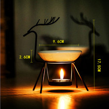 Stainless Steel Deer Burner Candle Aromatherapy Oil Lamp