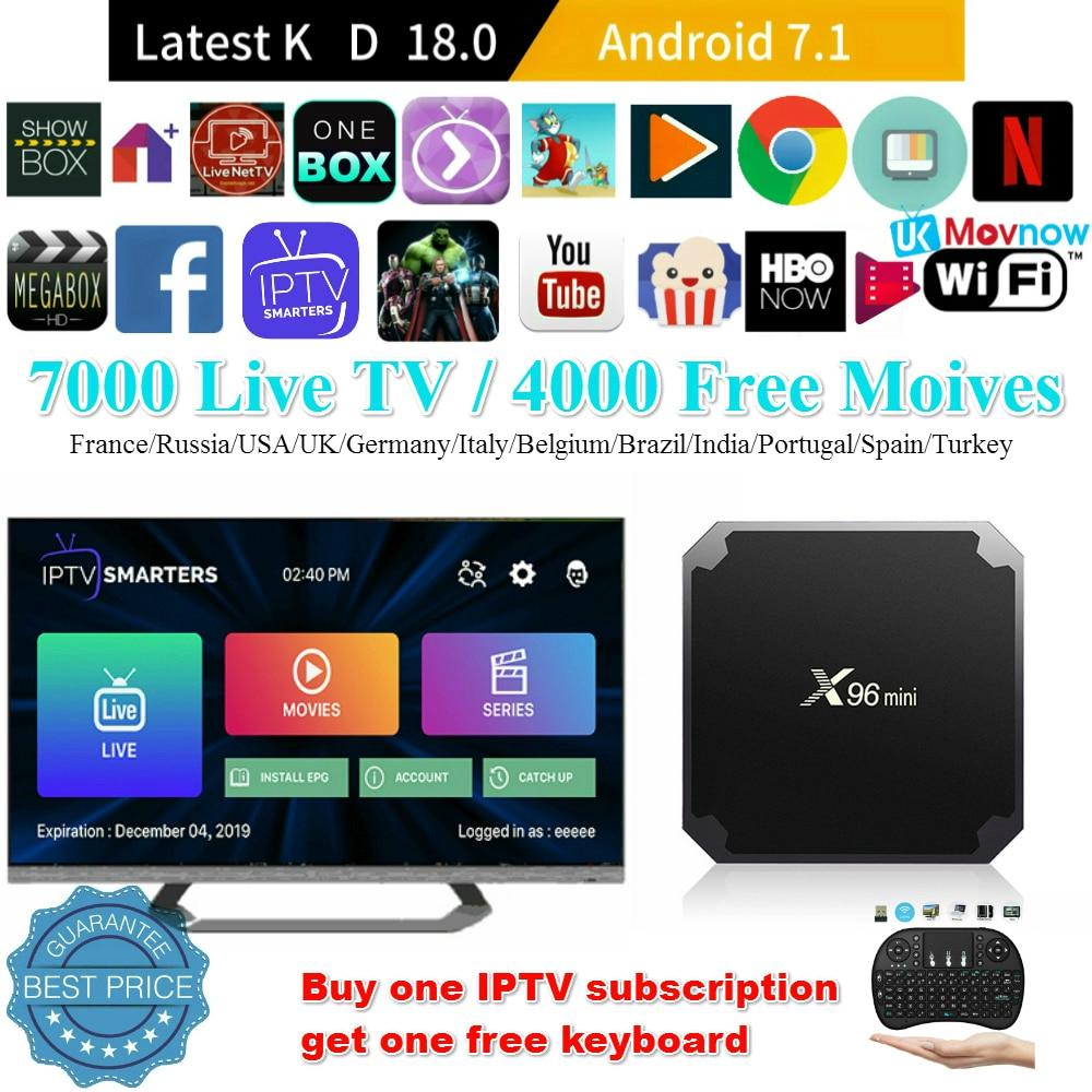 X96 Mini Android TV BOX IPTV Android 7.1 OS 1GB/8GB 2GB/16GB Amlogic S905W Quad Core 4K 2.4GHz WiFi Smart TV BOX Media Player