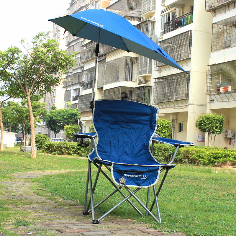 Outdoor Quik Shade Adjule Canopy Folding Camp Chair Portable Fishing Camping Reclining Lounging Heavy