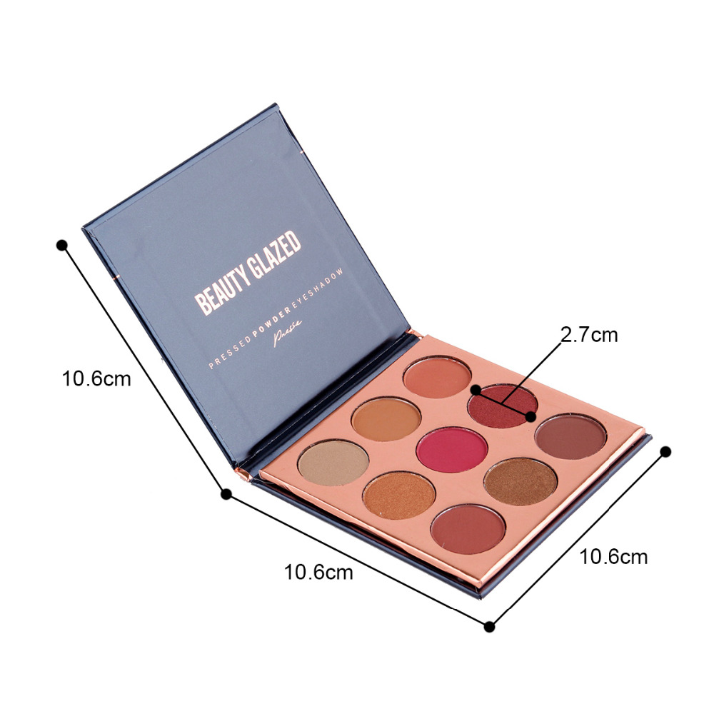 Capable 2018 New 9 Colors Eyeshadow Palette Natural Shimmer Matte Eye Shadow Professional Eyes Makeup Pallete Maquiagem By Beauty Glazed Eye Shadow Beauty & Health