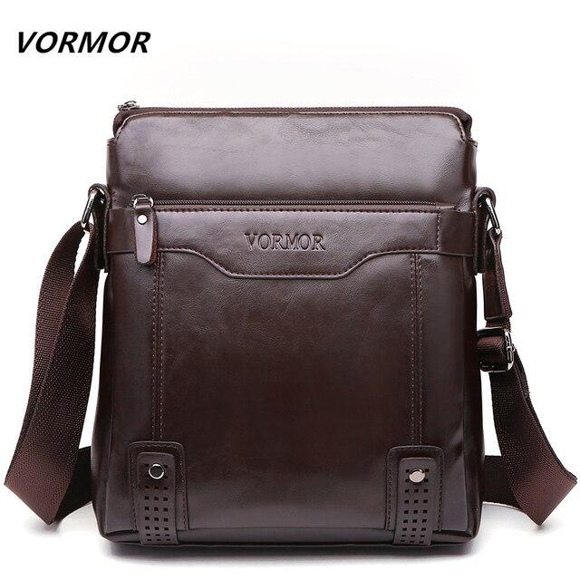 e9a75268bf883 VORMOR Marke Mode PU Leder herren Messenger Bags Portfolio Büro Männer  Tasche