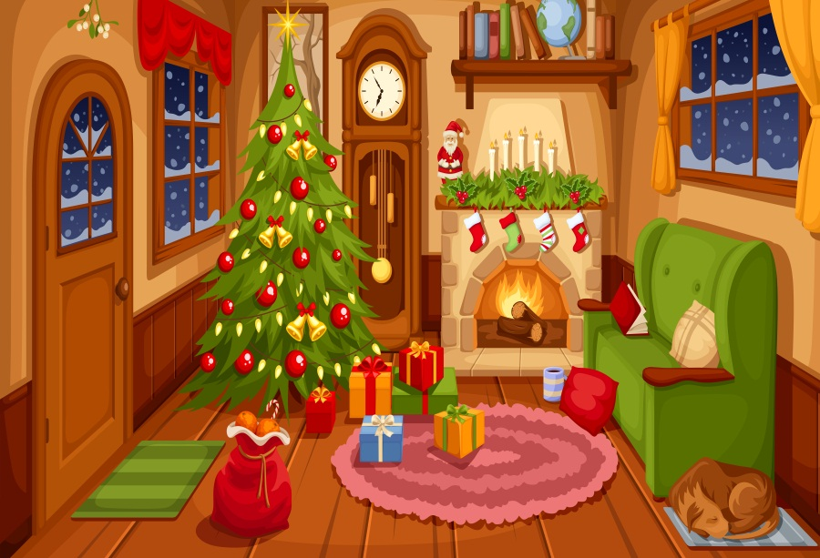 Indoor Fireplace Christmas Tree Photography Background: Aliexpress.com : Buy Laeacco Indoor Christmas Tree