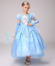 2019 new ice romance princess dress girl Aisha Princess Halloween performance costume