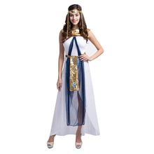 New Halloween Egyptian Queen Cosplay Custome Greece Egyptian Princess Fancy Dress Queen Of the Nile Arabian Queen Costume
