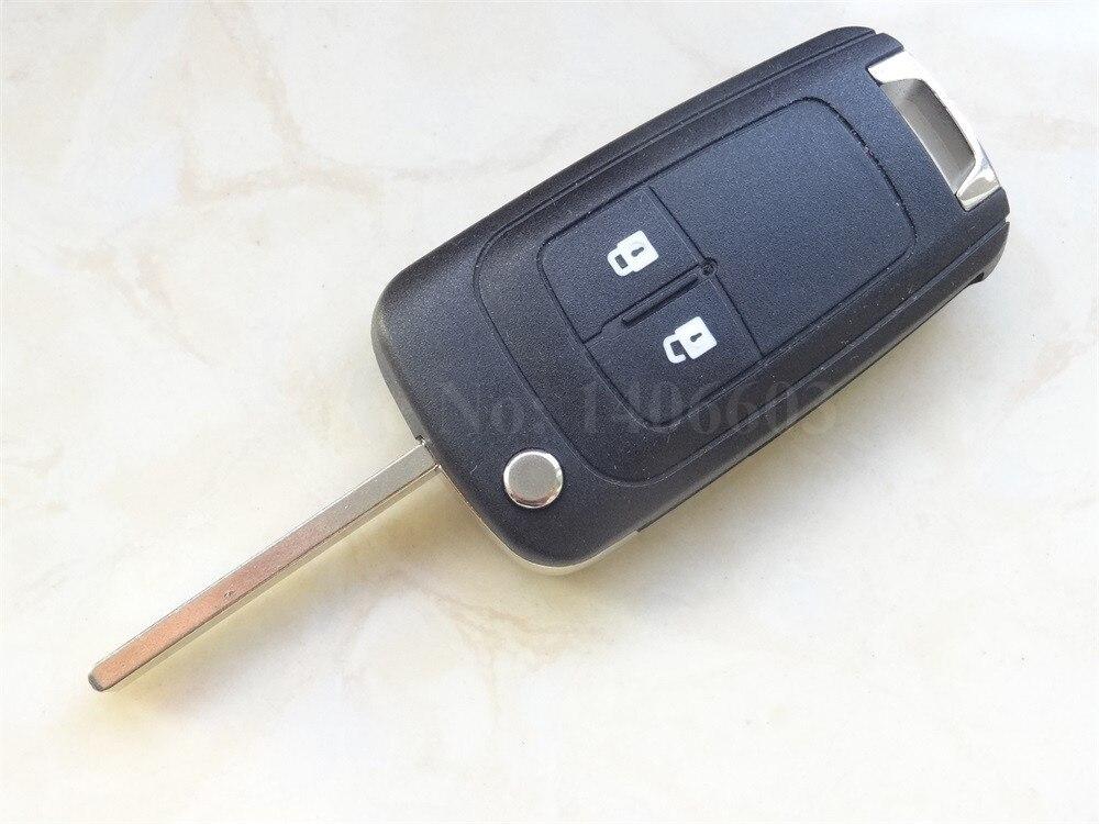 2 botón Nuevo de Reemplazo llave del coche de Shell Voltear Plegable Caso Clave