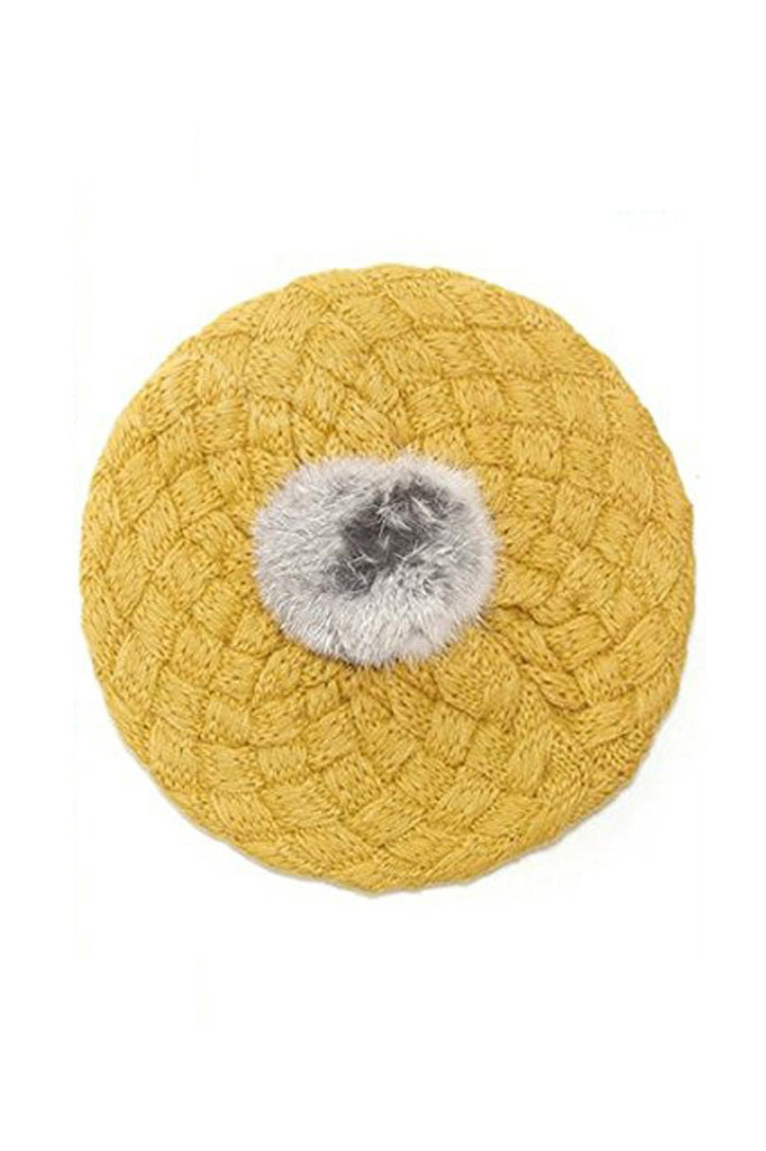 KSFS Crianças Chapéu Do Bebê Handmade Crochet Knitting Boina Cap Amarelo 7a8dbae391a