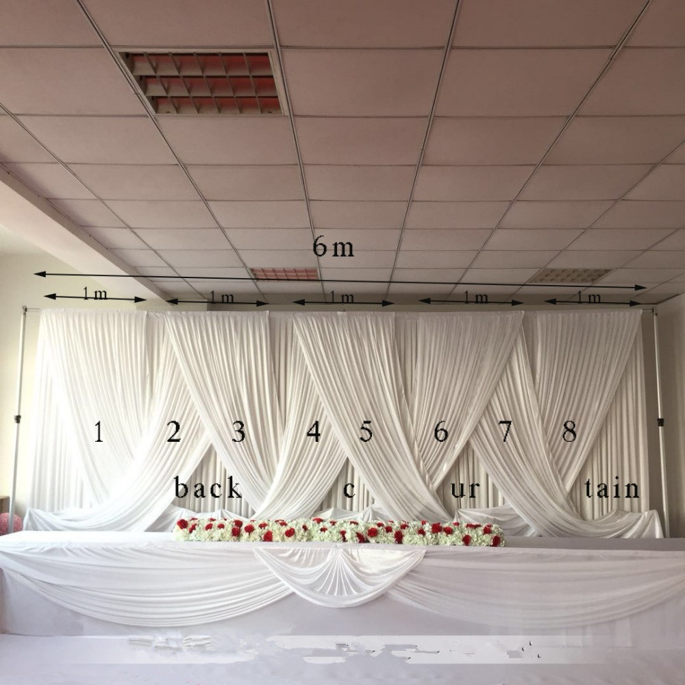 luxury wedding supply party idea wall decoration Drapery curtain banquet swag Backdrop 10*20ftluxury wedding supply party idea wall decoration Drapery curtain banquet swag Backdrop 10*20ft