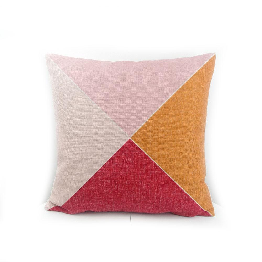 High-end digital print pastel geometric pattern pillow cushion throw factory direct sell
