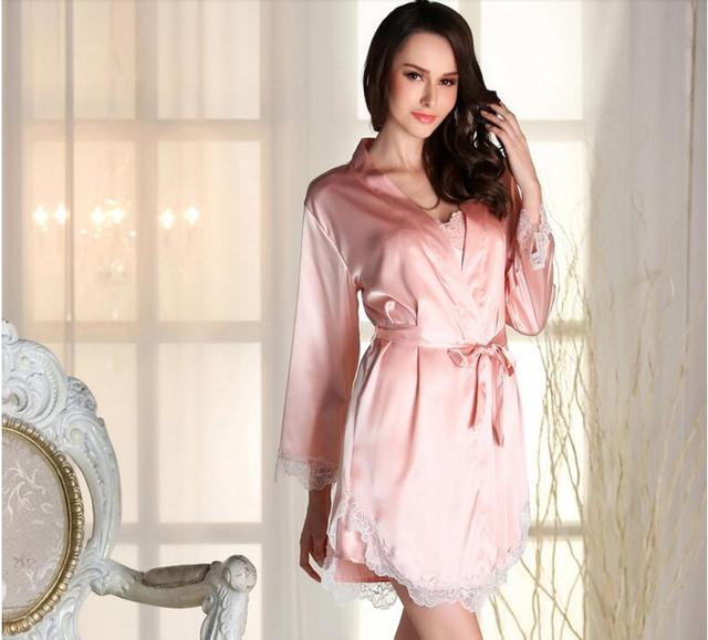 yomrzl L001 New arrival spring and autumn women's robe set Luxurious long sleeve robe daily sleepwear indoor clothes