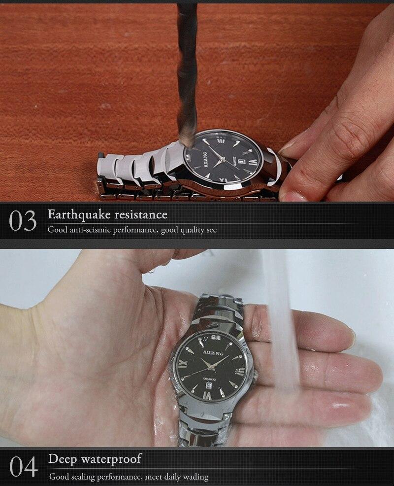 Aço de Tungstênio Do Vintage Roman Relógio Calendário Analógico Reloj