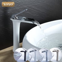 Free Shipping Waterfall Brass Vanity Sink Faucet Chrome Bathroom Sink Basin Mixer Tap