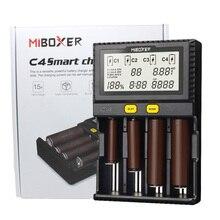 Orijinal Miboxer C4 LCD akıllı pil şarj cihazı Li ion IMR INR ICR LiFePO4 18650 14500 26650 16340 AAA AA Piller 100 1500mA
