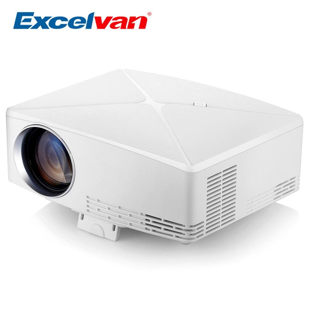 Excelvan C80 projecteur LCD Home cinéma projecteur 1500Lumens 1280x720 résolution Support Max 1080P LED Portable HD projecteur