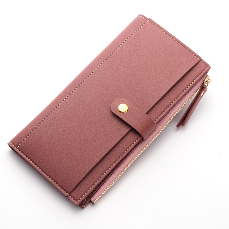 Long Solid Brand Wallets Women Wallet Fashion Luxury PU Leather Designer Female Money Card Holder Ladies Coin Purse Clutch Bag fashion genuine leather women wallets red brand designer plaid long clutch women s purse female money credit card holders party