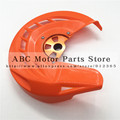 CNC Orange Billet Front Brake Disc Cover Protector for KTM  125-530 EXC/EXC-F 2003-2015