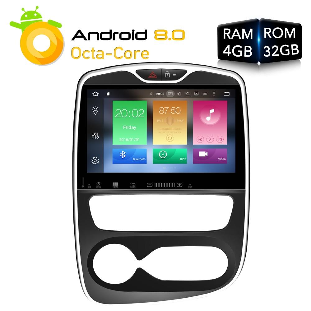 Android 8.0 Car DVD Player GPS Glonass Navigation multimedia for renault Clio 2016 -2018 Auto BT Radio Audio Video Stereo RAM 4G 8 hd android 7 1 car dvd stereo for renault dacia duster sandero lodgy dokker auto radio gps glonass navigation multimedia