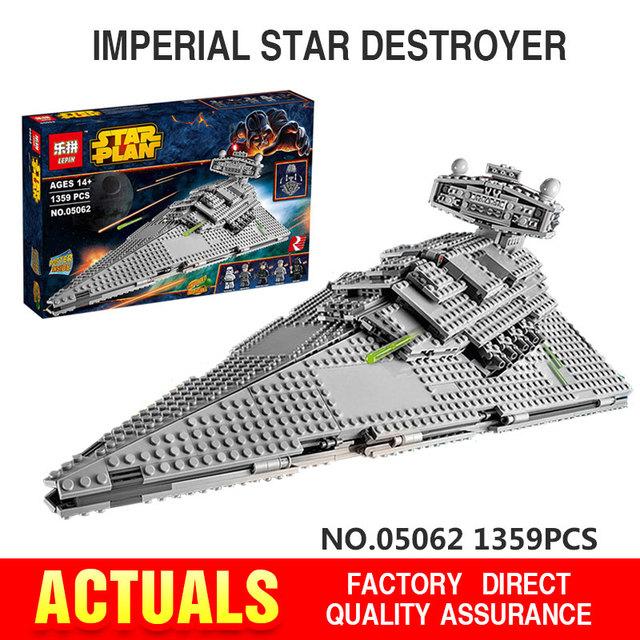 Lepin 05062 Serie Star El Destructor Estelar Imperial Súper Conjunto Educativos Building Blocks Ladrillos Compatible Juguete de Regalo 75055