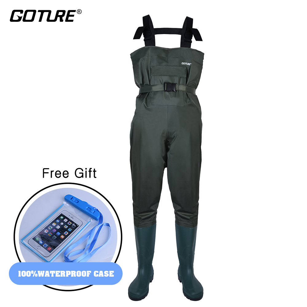 Goture Chest Fishing Warder 100% Waterproof Fishing Wear for Fly Fishing Outdoor Hunting Boots Euro Size #43-#46 Waders