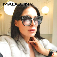 e063794067fac MADELINY 2017 Mulheres Da Moda Olho de Gato Óculos De Sol de Marca Designer  de Grandes