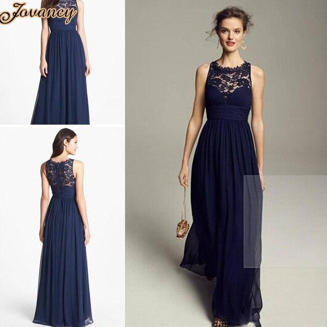 Vestido azul marino gasa