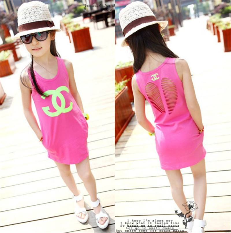detailed look b4c77 20c9f 2016 girls summer style dresses kids sundress disfraces moda ...