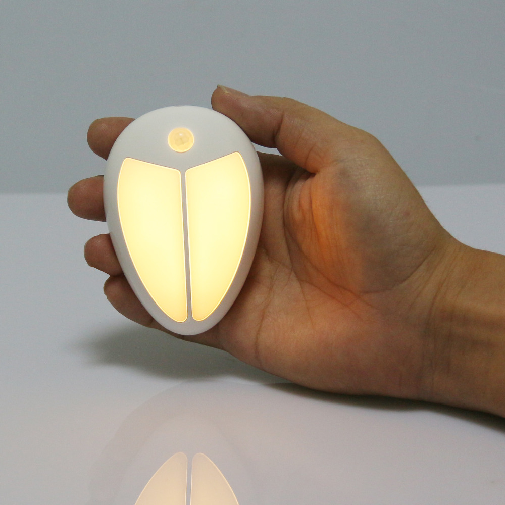 Mini Wireless Infrared Motion Sensor Ceiling Night Light Battery Powered Porch Lamp Cabinet Bedside Hallway Wall Lamp Light