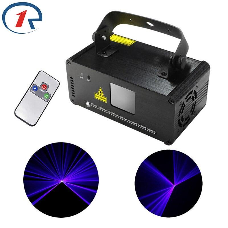 ZjRight IR Remote Laser light DMX512 150mW Blue Laser Scanner Effect Stage Lighting Party Club Show Projector Disco effect Light