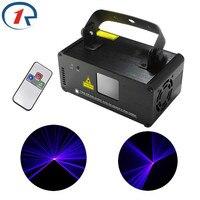ZjRight IR Remoto DMX512 luz Láser 150 mW Azul Láser Escáner Efecto de Etapa de Iluminación efecto Disco Party Club Mostrar Proyector luz