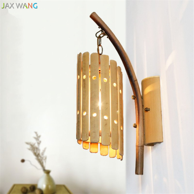 Chinese Style Creative Vintage Wall Light Bamboo Wall Sconces ...