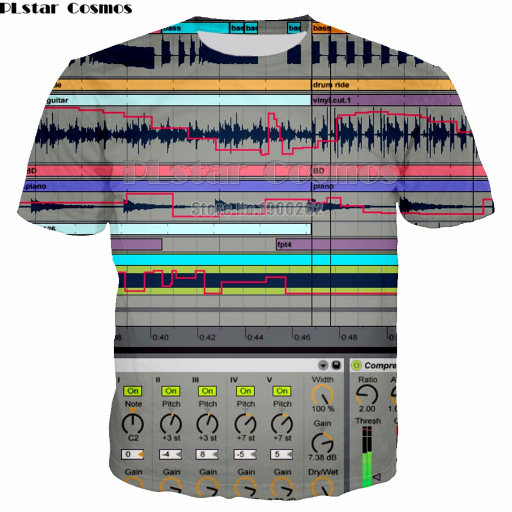 PLstar Cosmos Ableton live New Style Brand Popular T-shirt New Style 3D print Shirt O-Neck Short Sleeve T Shirt