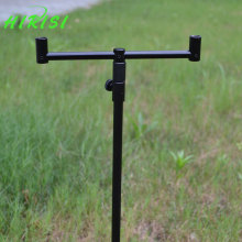 Carp fishing tackle 1pcs fishing rod pod fishing bank stick 48-75cm with 1pcs fishing buzz bar 20cm black color