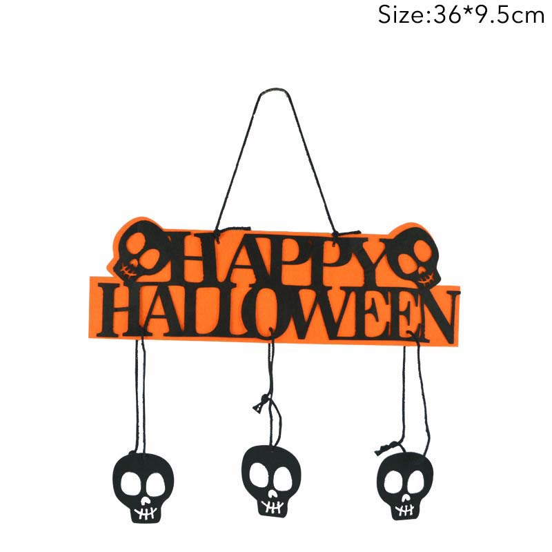 14inch Halloween Hanging Decor Tag With Happy Halloween Sign Pumpkin Skull horrible Prop Listing For Bar KTV Home Party Supplies in Party DIY Decorations from Home Garden