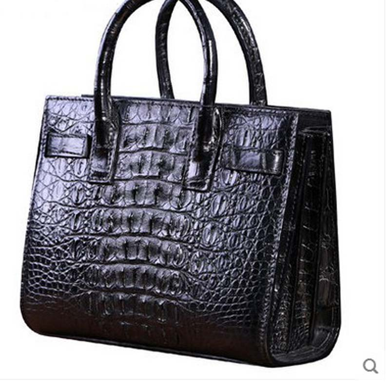 heimanba women crocodile leather bag Women's shoulder handbag slanted across a small bag of new Thai leather alligator bags karen cvitkovich leading across new borders