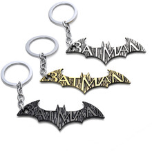 Good Quality Fast Shipping 1pcs New Arrival Super Hero Marvel Batman Metal Keychain Pendant With Action Figure Key Ring Toys