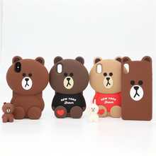 Cute 3D Cartoon Lovely Phone Case for Apple iPhone 6 6s 7 8 Plus X XR XS Max Soft Silicone Shockproof Cover Fundas Coque Capa