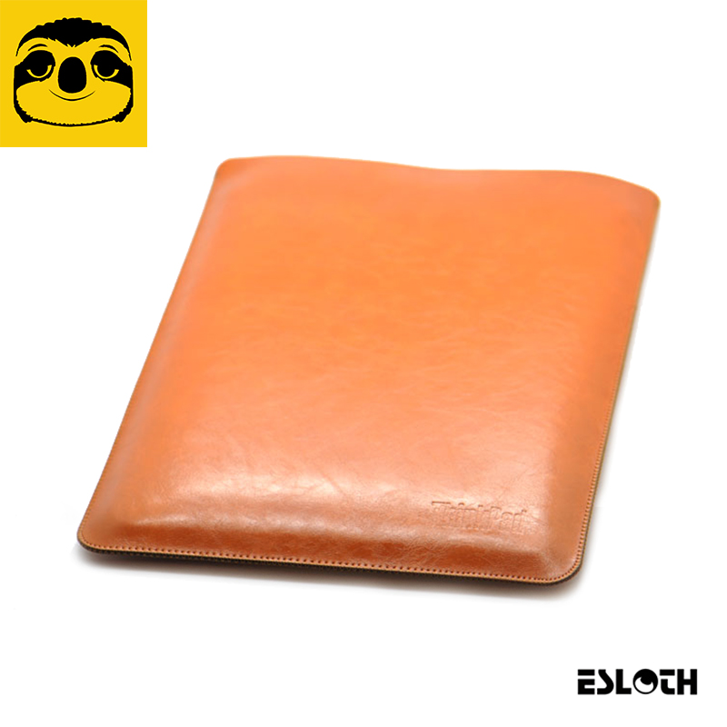 ESLOTH Crack Light Brown For Lenovo ThinkPad X1 Carbon 14 PU Leather Cases Into Sets of