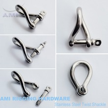 5mm  Twist shackle with screw pin stainless steel 316 AISI 316 marine hardware boat hardware rigging hardware
