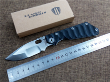 New ST folding knife 9cr18 blade Outdoor camping knives G10 handle utility tactical survival knife EDC tool