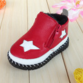 Baby boys shoes star pattern children warm non-slip shoes Muchachos y las muchachas zapatos infantiles del