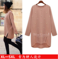 2016 Fashion Winter plus size Pullover Women Sweater Knitwear Europe and America pearl Long section sweaters Female XL-5XL