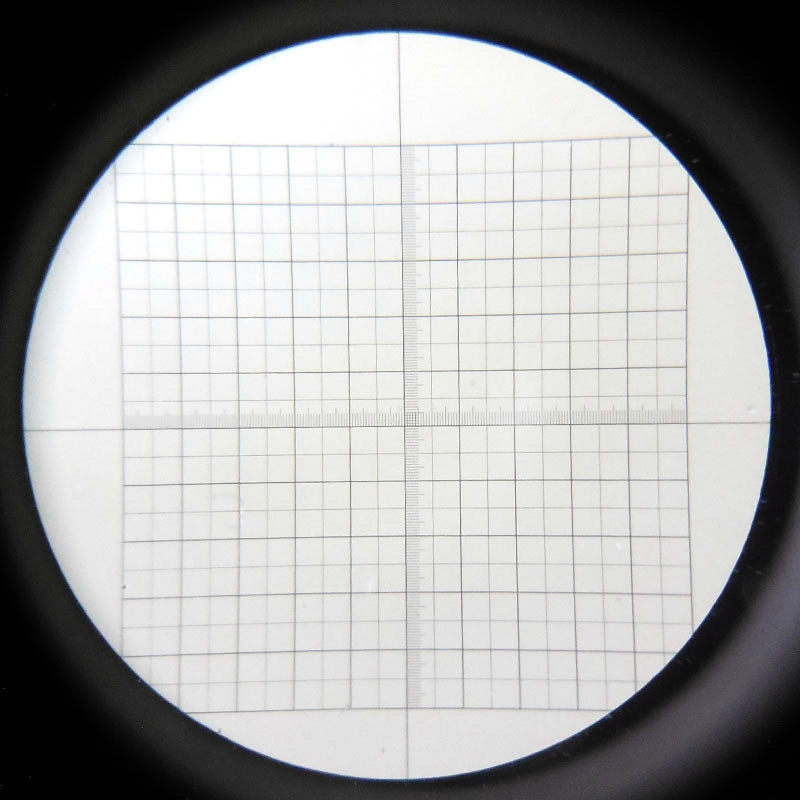 High Precision Microscope Eyepiece Ocular Micrometer Diameter 20 Mm/ 24 Mm DIV=0.1 Net Type Slides With Grid Cross Scale Reticle
